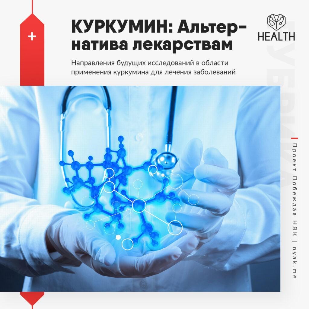 Куркума. Направления будущих исследований в области применения куркумина для лечения заболеваний