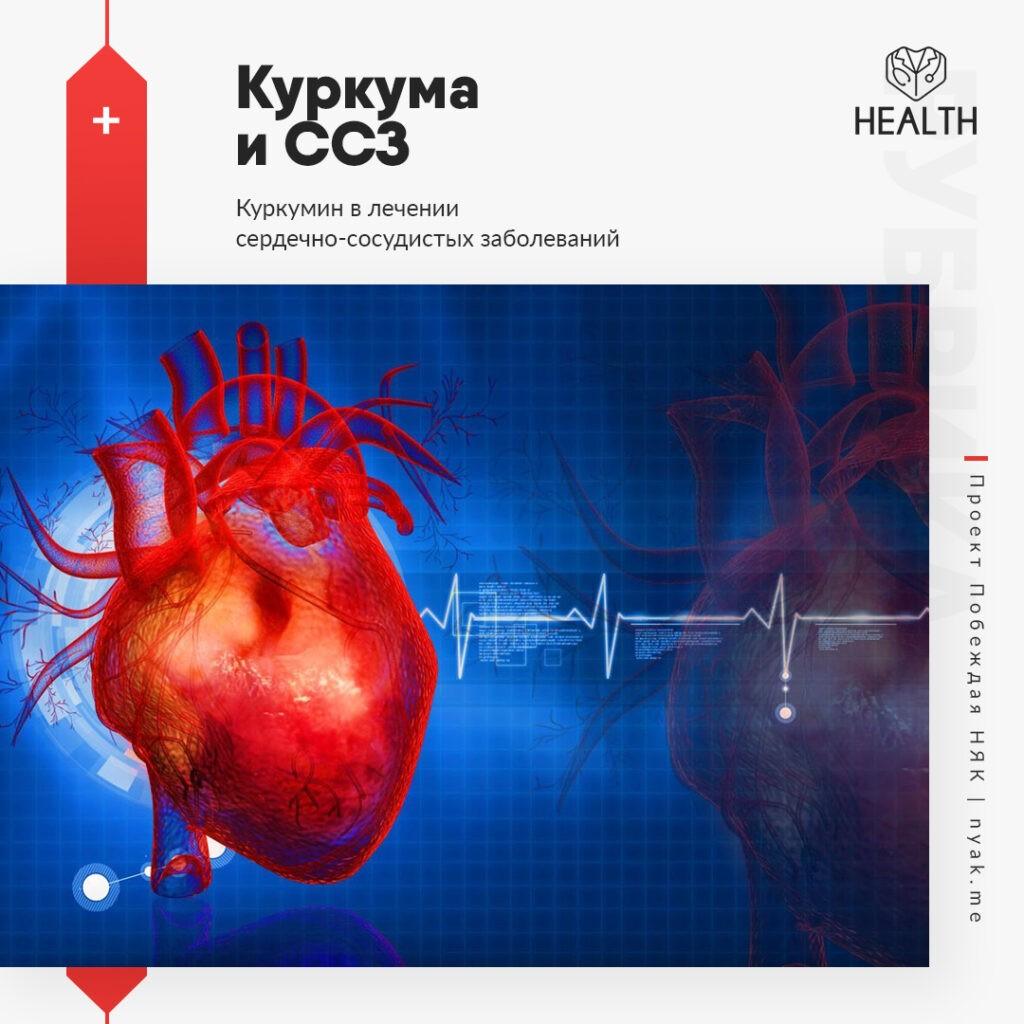 Куркумин в лечении сердечно-сосудистых заболеваний. Куркума и сердце