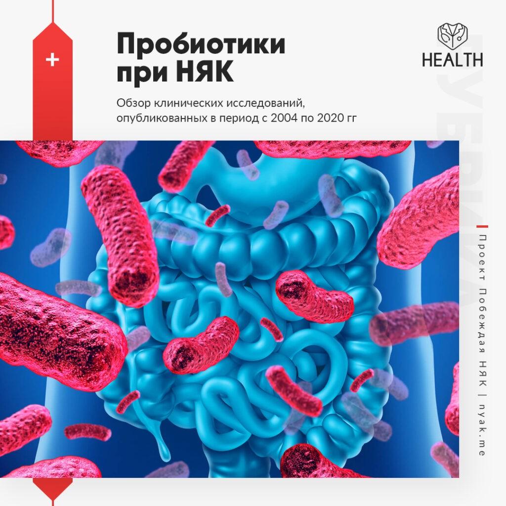 Пробиотики при НЯК. Обзор клинических исследований, опубликованных в период с 2004 по 2020 гг